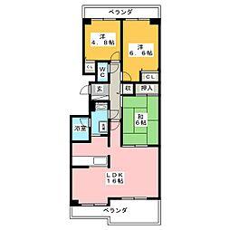 コープ野村新安城 B棟[2階]の間取り