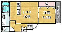 マルエスマンション長尾元町[3階]の間取り