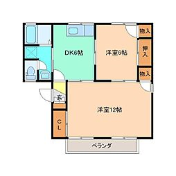メゾンミヤマコーポラス B棟[201号室]の間取り