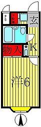 アベニュー5[1階]の間取り