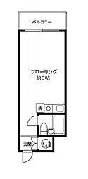 ダイアパレス飯田橋[401号室]の間取り