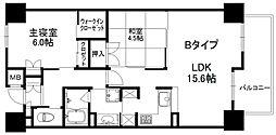 メイプルガーデン梅田 3階2LDKの間取り