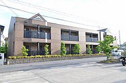 京都府京田辺市三山木下ノ浜の賃貸マンションの外観