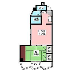 T's Court TOKUYA[4階]の間取り