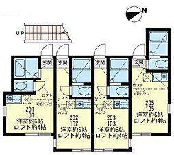 ユナイト東逸見エキュール・ ポアロ[2階]の間取り
