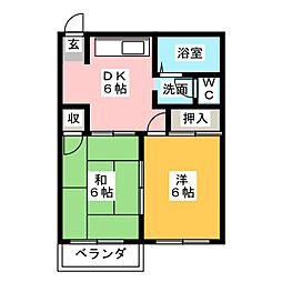 フローラル[2階]の間取り