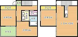 ガーデンプレイスUENOHARU(ウエノハル)[2階]の間取り