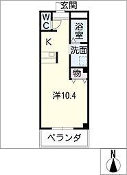 秀島ビルCrastina108[4階]の間取り