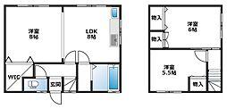 [一戸建] 北海道札幌市北区新琴似四条13丁目 の賃貸【/】の間取り