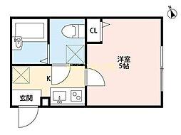 エクセラン桜ヶ丘[2階]の間取り