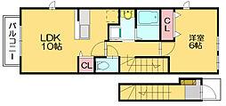 ピアッツァエミ3[2階]の間取り