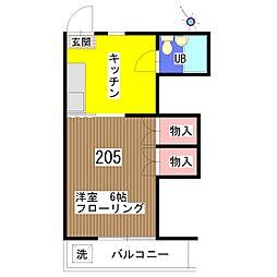 新井ハイツ[205号室]の間取り