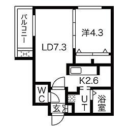メニーズコートII[3階]の間取り