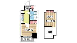 エステムコート神戸県庁前IVグランディオ[1003号室]の間取り