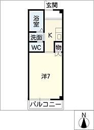 クレール龍美[1階]の間取り
