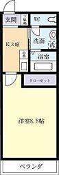 マンションTAIRAII[0206号室]の間取り