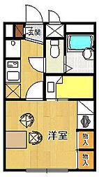 レオパレス北夙川フラット[203号室]の間取り