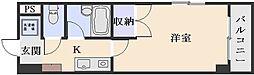 シャンテ中垣[2階]の間取り