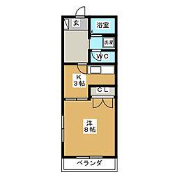 ハイマンション日永西 B棟[1階]の間取り