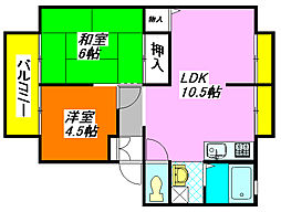 グランドールA棟 102号室[1階]の間取り