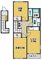 Bell Eight[2階]の間取り
