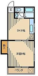 ケラソス奥田[303kk号室]の間取り