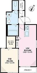 東京メトロ南北線 東大前駅 徒歩6分の賃貸マンション 1階1LDKの間取り
