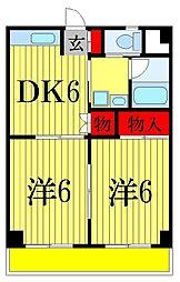 エミュールマンション[1階]の間取り