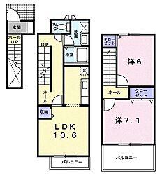 シャトレ・T.S[2階]の間取り
