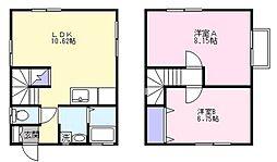 [一戸建] 茨城県日立市金沢町2丁目 の賃貸【/】の間取り