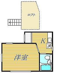 東京都墨田区向島4丁目の賃貸アパートの間取り