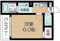 東京都大田区北糀谷1丁目の賃貸アパートの間取り