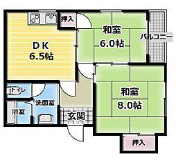 シティライフ廻戸[4階]の間取り