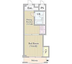 パークグレース新宿[10階]の間取り