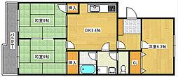 第2ベルハウス[203号室]の間取り