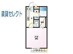 千葉県松戸市上矢切の賃貸アパートの間取り