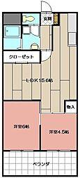田町ビル[503号室]の間取り