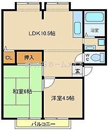 カサベルデ中澤[2階]の間取り