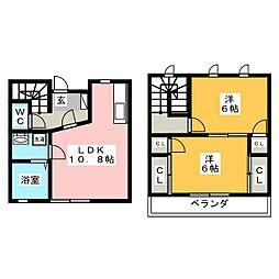 [テラスハウス] 三重県伊賀市西明寺 の賃貸【/】の間取り