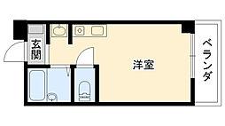 兵庫県西宮市今津野田町の賃貸マンションの間取り