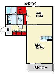 センテナリオ葛原C[1階]の間取り