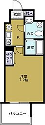 アドバンス大阪ルーチェ[13階]の間取り