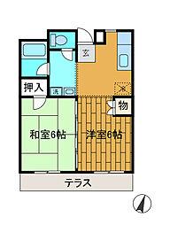 神奈川県相模原市南区東林間1の賃貸マンションの間取り