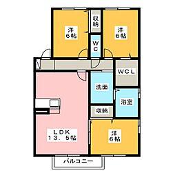 ウィルモアグッドラック[2階]の間取り