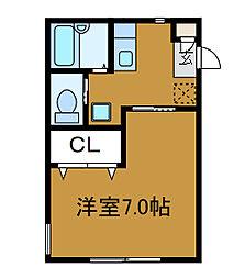 ルーエンハウス[2階]の間取り
