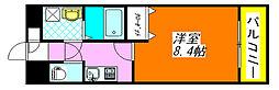 グランシス・高井田 302号室[3階]の間取り