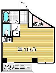 大阪府高槻市真上町3丁目の賃貸マンションの間取り