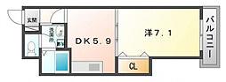 ボナールシュエット[3階]の間取り