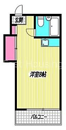東京都杉並区阿佐谷北1丁目の賃貸アパートの間取り