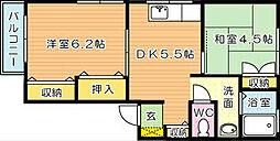タウンコートI[1階]の間取り